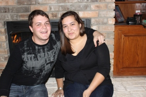 My nephew, Lawrence, and his wife, Ruby.